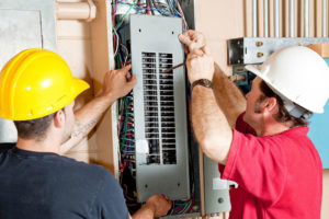 electric contractors upgrade electric panel