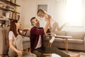 happy family good indoor air quality